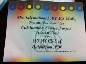 Outstanding Service Project Award 2012