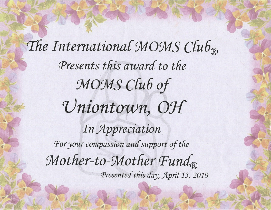 Mother to Mother Fund Award